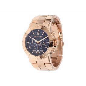 Relógio Michael Kors Mk 5410 Rose Com Fundo Azul Marinho - Relógios ... ddbe8013c7