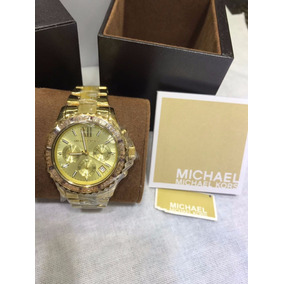 Relogio Michael Kors Feminino Dourado Fundo Preto - Relógios no ... e0f3a246f1