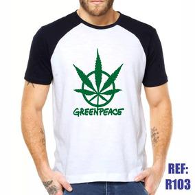 Camisa Raglan Greenpeace Verde Sustentabilidade Ecologia d2c6673dc9854