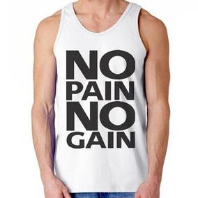 Camiseta Regata Feminina No Pain No Gain Musculação Treino ... a1bf6272f96