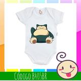 Body Infantil Pokémon Desenho Mangá Bebê Snorlax Snorlex f4d4a002df0