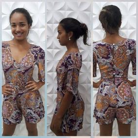 Macacão Macaquinho Estampado P Ou M ,roupas Femininas 2017!!