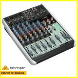 Consola Mixer Behringer Xenyx Q1204usb 12 Entradas P/estudio