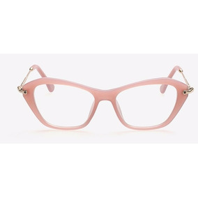 c8c5b0191722f Oculos Sem Grau Quadrado Preto - Óculos Rosa no Mercado Livre Brasil