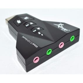 Placa De Som 7.1 Usb 3d Adaptador P2 Audio Para Virtual Dj