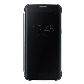 Protector Clear View Cover Negro Galaxy S7 Acce Samsung