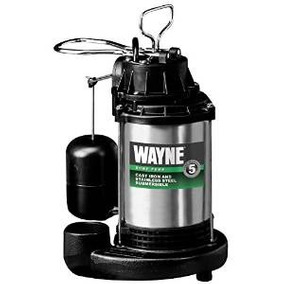 Wayne Cdu980e 3.4 Hp Sumergible De Hierro Fundido Y Acero In