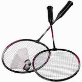 Kit Badminton 2 Raquetes + 2 Petecas Promoção