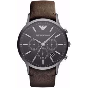 de30122c205 Relógio Emporio Armani Ar1846 Couro Marrom Original - Relógios De ...