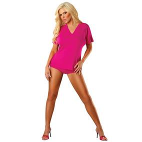 Camisa Para Mujer Tela Bamboó Color Rosa Talla S