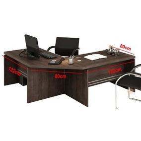 Jogo Mesa Escrivaninha Canto Estação Trabalho - Kappesberg
