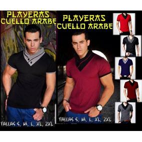 Playera Cuello Árabe Moda Oriental Cuello V Swag