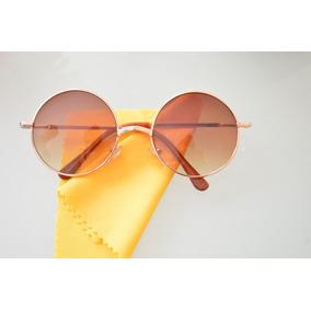 Oculos Sol Lentes Redondas Jhon Lennon Beatles + Brinde Hot · R  49 99 7379aaa256