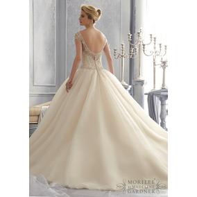 Vestido Novia Nuevo Barato Bonito Elegante Linea A Princes65