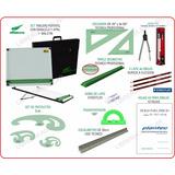 Kit Completo Tablero 40x50 Dozent Plantec Dibujo 24 Articulo