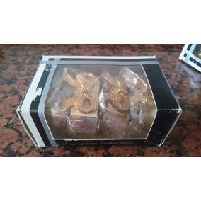 Porta Guardanapo Em Prata Caixa 4 Peças Decoração Laço 2unid