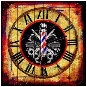a38b45dd7f9 Placa Relógio Vintage King Mdf 27x27 Barber Shop Cloqbc.0221. R  29 98