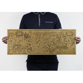 Mapa Do Mundo Mágico De Harry Potter 72x26 Pap. Kraft Poster