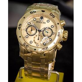 6a583cfac61 Invicta 0074 Banhado A Ouro 18k 100% Original Direto Miami - Relógio ...