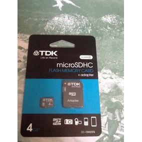 Memoria 4gb Tdk Con Adaptador Sd
