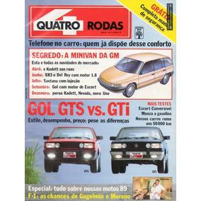 Quatro Rodas Nº343 Vw Gol Gts Gti Escort Xr3 1.6 Conversível