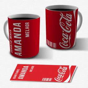 92579f37ef Caneca De Porcelana Personalizada - Coca Cola Com Seu Nome