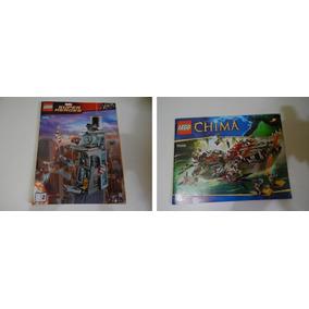 Manuais Lego Marvel E Chima - Cod 76038 E 70006