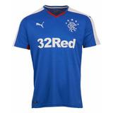 Camisa Oficial Puma Glasgow Rangers 2015 2016 I Jogador