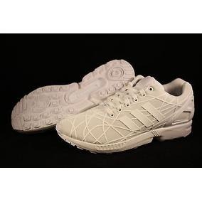 Tenis adidas Original Zx Flux Aq6779 Blancos Para Niño