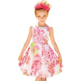4af85f347f Vestido Infantil Festa Branco Festa Ninali Meninas De - Vestidos no ...