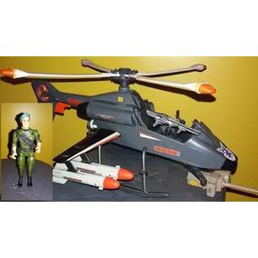 Helicóptero Rambo Glasslite + Coronel Trautman Anos 80 !!!