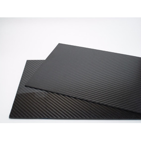 Placa Chapa De Fibra De Carbono (390 X 250 X 1,0 Mm)