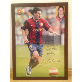 Messi Cuadro Poster Barça Autografiado Original Único  1 082eda45d71b8