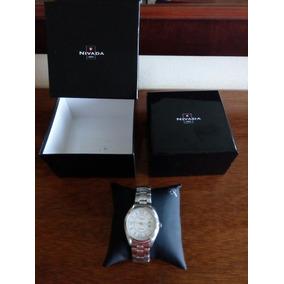 Reloj Nivada Plateado Para Caballero