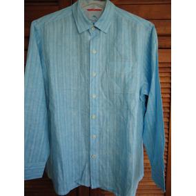 Tommy Bahama Camisa En Talla L Algodón Y Lino