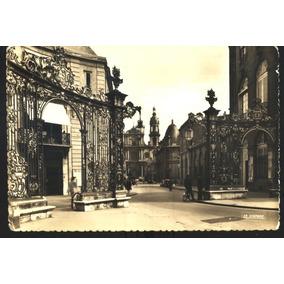 Cartão Postal Antigo Nancy França Place Stanislas Cathédrale