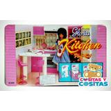 Mueble Para Casa De Muñecas Barbie Cocina Chica Full