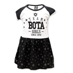 Vestido Infantil Do Botafogo Escudo Bordado Oficial 7e4002ed21050