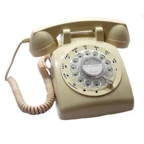 Telefone Antigo Inglês Vintage Retro Bege