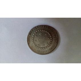 Moeda De Prata 960 Réis Ano 1824 Letra R
