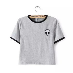 Camiseta Infantil Alien Tumblr Girl