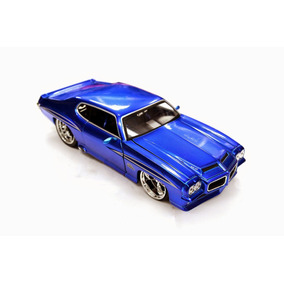 Miniatura Pontiac Gto 1971 Jada Toys 1:24 Azul