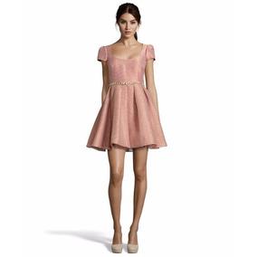 Vestido Marchesa Notte Rosa Metalico Bautizo,boda