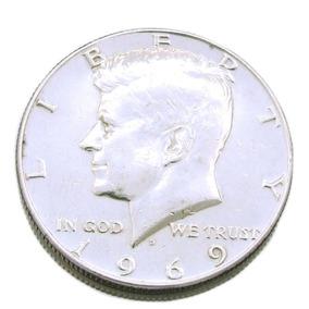 Moeda Liberty 1969 Estados Unidos Da America Em Prata 0441