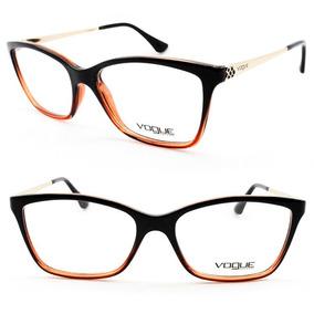ad12ab2ba7ed3 Armacao Feminina Vogue - Óculos Marrom no Mercado Livre Brasil