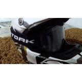Capacete Motocross Mormaii - Branco - Brinde Oculos Pro Tork