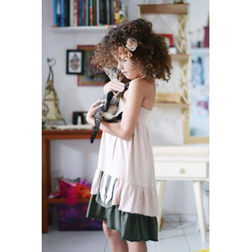 Vestido-saia Infantil 2em1 Em Algodão,fada, Kids,organic Goa