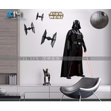 Vinilo Decorativo Star Wars -i27 Darth Vader, Tie Fighters