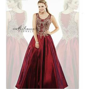 Vestidos bonitos de color vino
