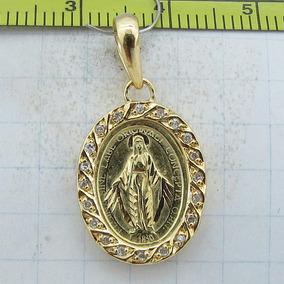 564f48556f4d1 Pingente Nossa Senhora Das Graças Ouro 18k Diamantes - Joias e ...